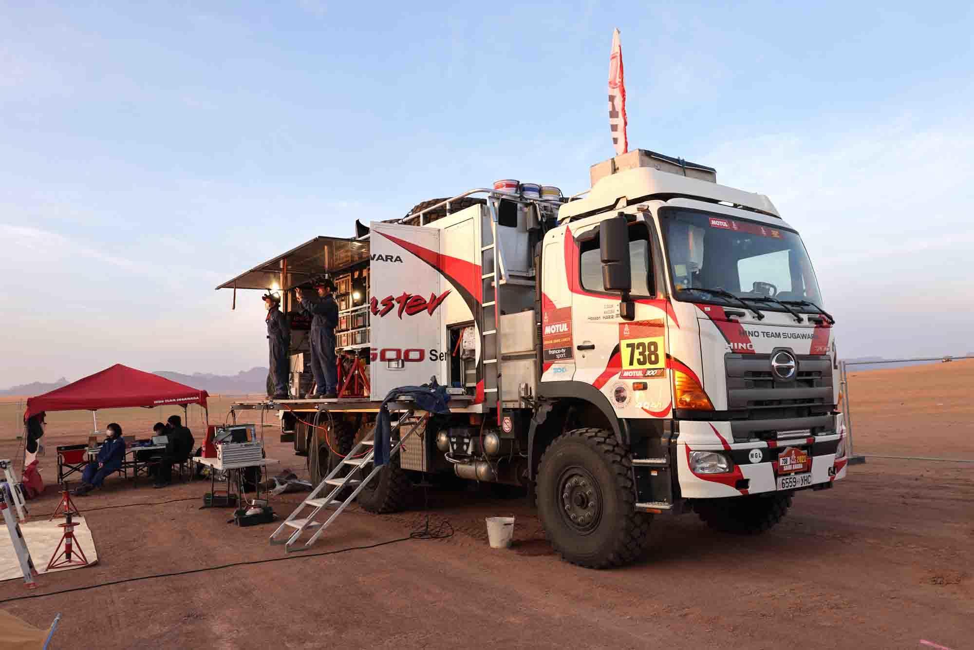 アルウラのビバークで日野レンジャーの到着を待つサポートチーム 1N9A6378.jpg